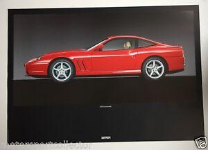 Original Ferrari Werks Plakat Factory Poster Ferrari 550 Maranello 1118 96 Ebay