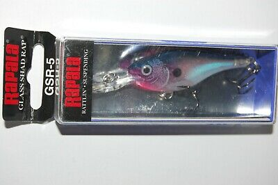 Glass Purple Shad Suspending GSR05 GPS Rattlin Rapala  Glass Shad Rap