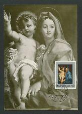 VATICAN MK 1971 GEMÄLDE MADONNA JESUS ART MAXIMUMKARTE MAXIMUM CARD MC CM c9248
