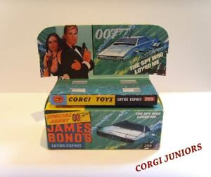 CORGI JUNIORS-James Bond Lotus Esprit-Display/riproduzione solo scatola + vassoio.