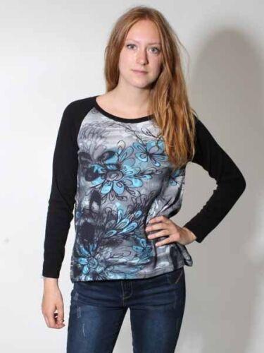 38 40 42 46 Baumwolle schwarz blau 30/% Leichter Pullover bedruckt von Kooi Gr