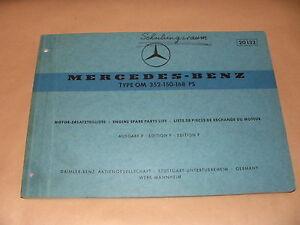 Ersatzteilliste-Ersatzteilkatalog-Mercedes-Benz-Motor-Typ-OM-352-150-168-PS