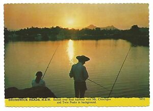 NSW-c1970s-POSTCARD-SUNSET-OVER-BOAT-HARBOUR-BRUNSWICK-HEADS-NSW