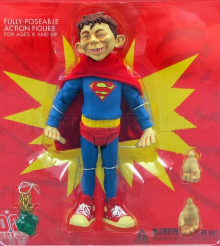 """DC Direct MAD Magazine Series 1 Alfred Neuman Superman Just Us League 6/"""" Figure"""