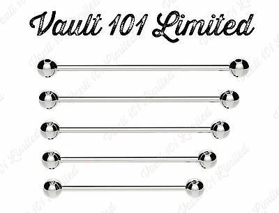 Industrial Scaffold Barbell Ear Piercing Bar 316L Surgical Steel With BALLS
