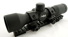 AIM 4X32 MIL DOT SNIPER SCOPE KIT FOR RUGER MINI 14 RANCH RIFLE WITH RAIL RINGS