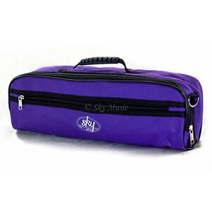 * Cadeau * C Flûte Hard Case Cover W Poche Latérale/poignée/sangle Violet * Special *-strap Purple *special* Fr-fr Afficher Le Titre D'origine