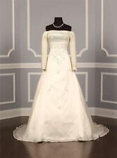 AUTHENTIC St Pucchi 9214 Natural Silk Organza Couture Bridal Gown 8 NEW