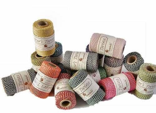 RANDOM JOB LOT OF 50 x 100M SPOOLS /'BEAUTIFUL/' BAKER/'S TWINE TRADE PRICES