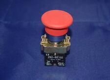 1pc Twist Release Emergency Stop Mushroom Push Button Switch Fits Xb2 Bs542