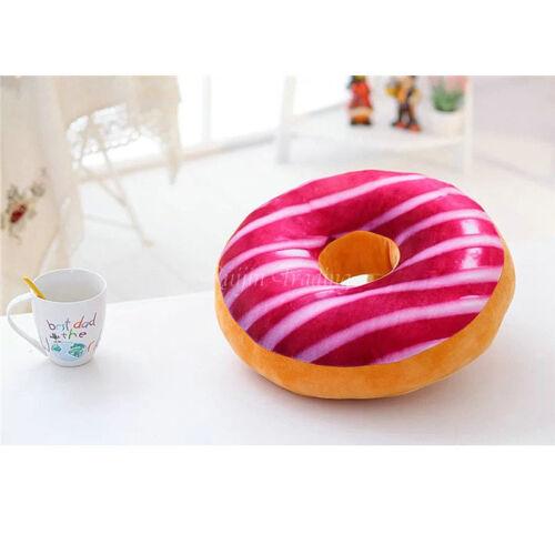 3D Soft Plush Donut Fruit Cushion Toy//Throw Pillows Seat Chair Floor Mat Decor