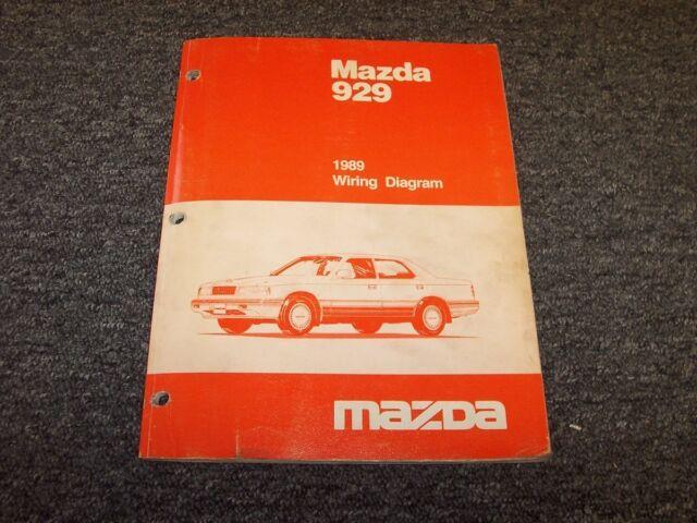 1989 Mazda 929 Sedan Original Electrical Wiring Diagram