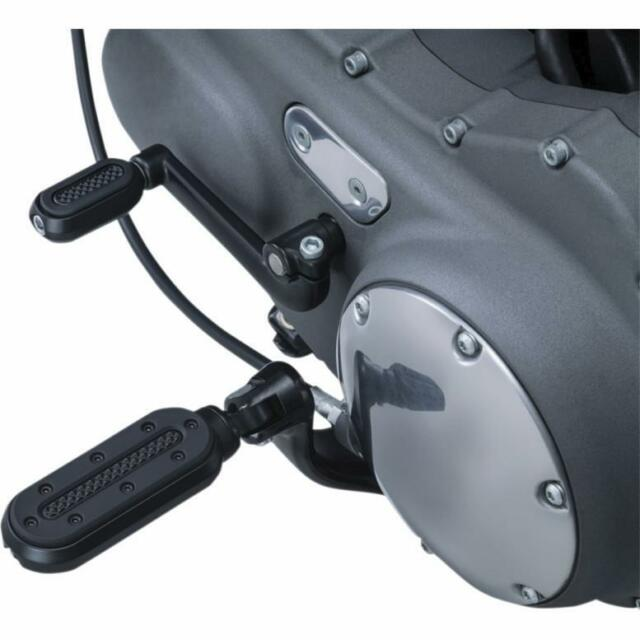 Kuryakyn 7032 Satin Black Motorcycle Foot Controls 2 Pack