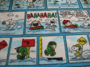 Fleece Snoopy Peanuts Woodstock Winter Comic Christmas Fleece