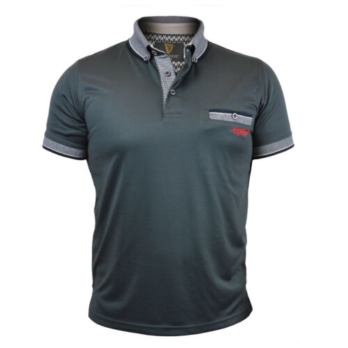 Guinness Grey Premium Men/'s Polo Woven Collar Pocket Trim Irish Ireland New