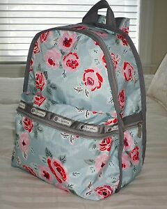 77779dd94 Image is loading NWT-LeSportsac-BASIC-BACKPACK-Garden-Sky-Rose-7812-