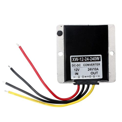 New Waterproof 12V to 24V DC-DC Step Up Power Supply Converter 10A 240W great