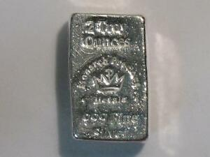Two Troy Ounce Hand Poured 999 Silver Ingot Monarch