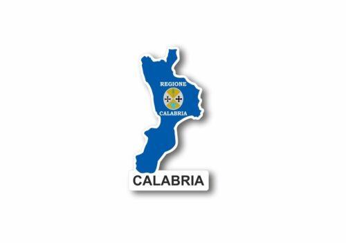 Aufkleber karte flagge region italien provinz kalabrien calabria