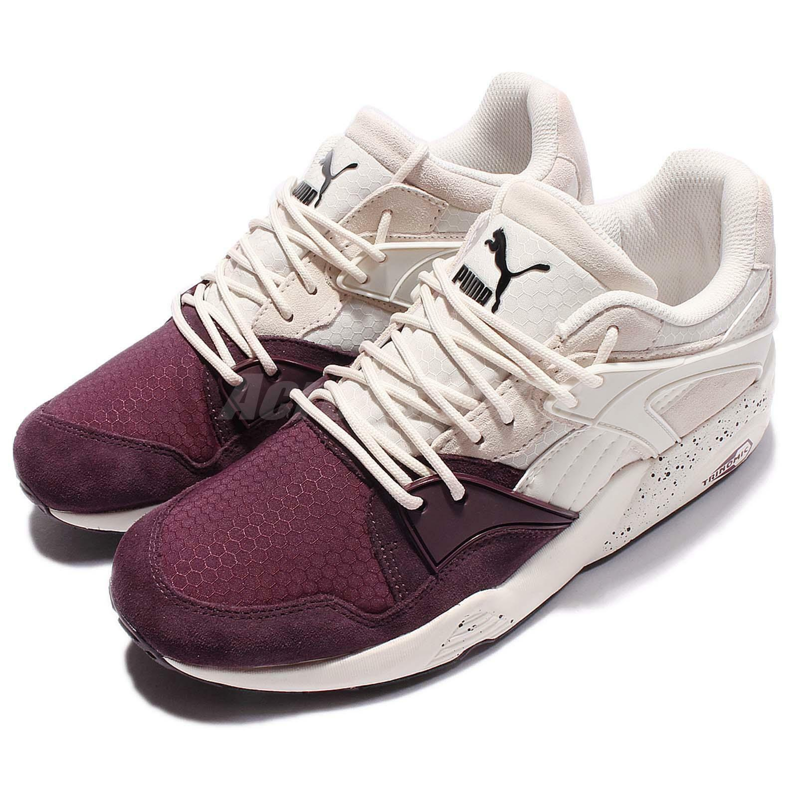 Puma Trinomic Blaze Winter Tech Trainers White Purple Men Running Shoe 361341-03
