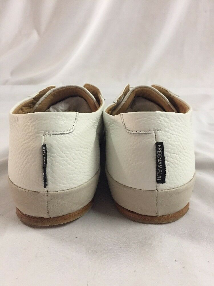 325 Freeman Low Plat Court Low Freeman Tennis Cream Uomo's Leather SNEAKERSSize 15 Eur 48 cdc025