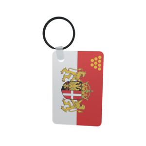 Schlüsselanhänger Flagge Fahne Neuss Alu 40 x 57 mm