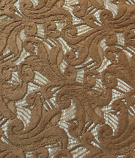 100% Cotton Lace fancy italian heavy embroidery knit Made in Italy Bronze