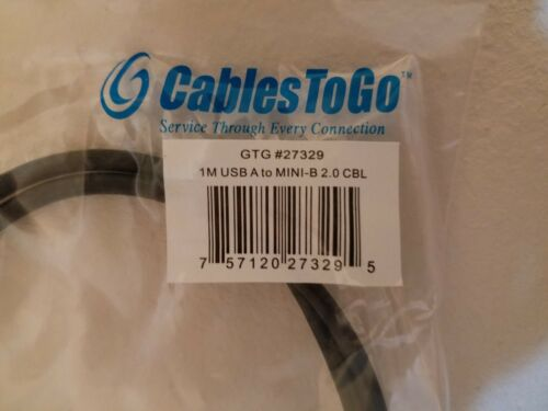 NEW C2G Cables to Go 27329 USB 2.0 A to Mini-B 1m Digital Camera Transfer Cable