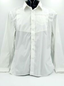 G-Star-Raw-Denim-Men-039-s-New-Guardian-Long-Sleeve-White-Shirt-Size-L-New-With-Tags