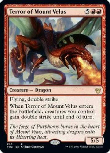 Theme Booster Exclusive Near Mint MTG Terror of Mount Velus 295//254