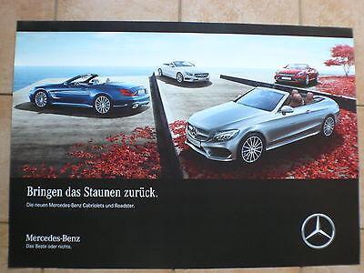 Mercedes-benz Cabrios & Roadster Sl Slc C-klasse - Poster 83 X 59 Cm Plakat 2016 Niedriger Preis