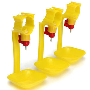 10pcs Automatic Poultry Feed Water Dispenser Drinker Cup for Coop Chicken Fowl