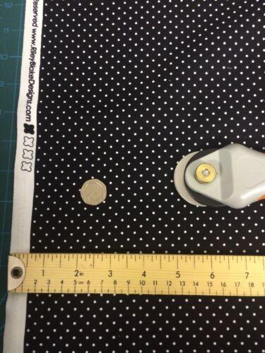 Swiss dots noir riley blake tissu fq 45cm x 56cm plus 100/% coton craft