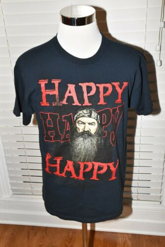 DUCK DYNASTY HAPPY HAPPY HAPPY SI BLACK LARGE T-Sh