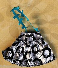 MONSTER HIGH ~ Frankie Stein BLACK SILVER SKIRT CLOTHES OUTFIT Replacement