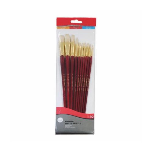 set pennelli per dipingere setola naturale DALER ROWNEY Natural white bristle