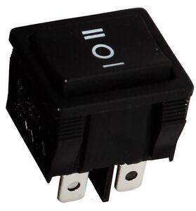 Interrupteur Commutateur Contacteur Bouton à Bascule Noir Dp3t On-off-on 6a/250v