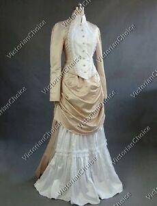 Victorian Edwardian Vintage Wedding Dress Bustle Bridal Gown Riding ...