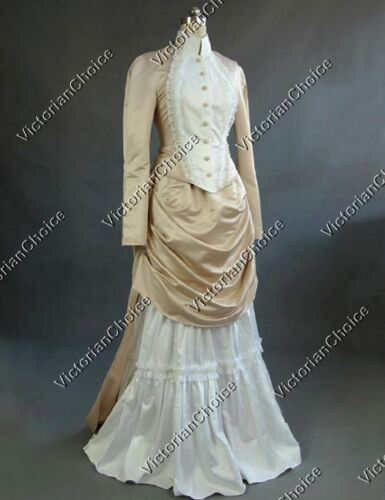 Victorian Costumes: Dresses, Saloon Girls, Southern Belle, Witch    Victorian Edwardian Vintage Wedding Dress Bustle Bridal Gown Riding Habit N 139 $159.00 AT vintagedancer.com