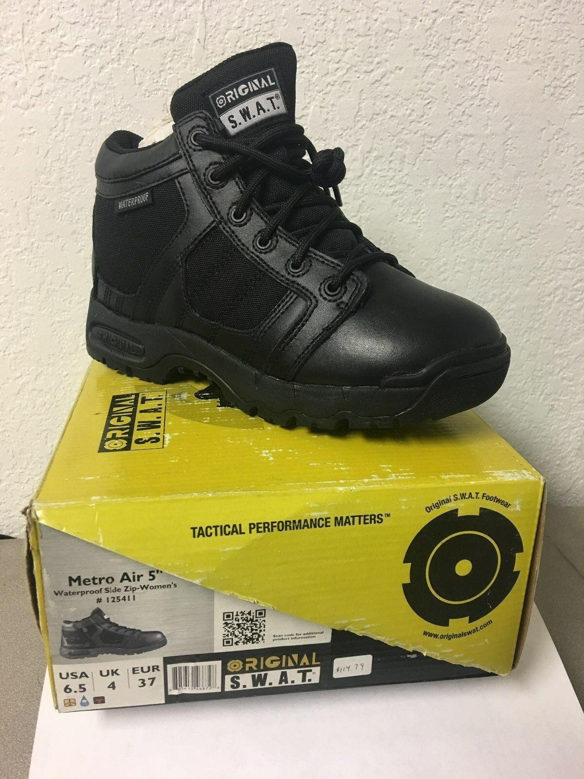 ORIGINAL SWAT TACTICAL BOOTS (BLK LEATHER, METRO AIR 5  , WOMEN'S SIZE 6.5)  cheapest