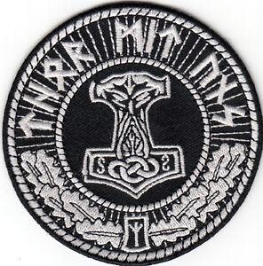 thors hammer moljinor thor mit uns patch asatru viking