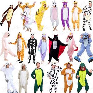 Unisex Adult Pajamas Animal kigurumi Cosplay Costume Jumpsuit Halloween Party