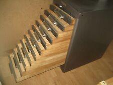 Vintage Hamilton Metal Wood Drawers Linotype Printers Letterpress Cabinet