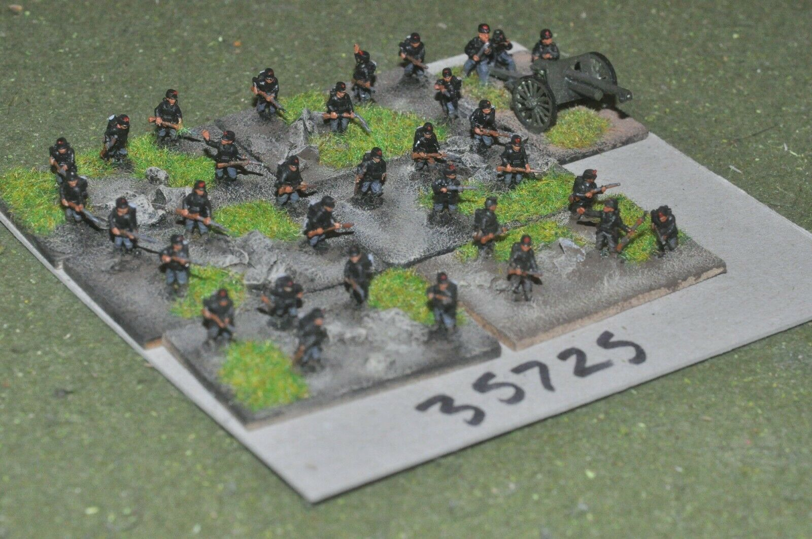 10mm WW1   belgian - battle group 30 figures & gun - inf (35725)