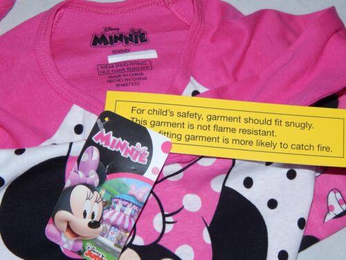NEW Minnie Mouse Figure Disney Pajamas Outfit Sleep Shirt Pant Girls 2 3 Toddler