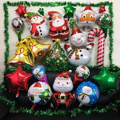 LARGE MERRY CHRISTMAS FOIL BALLOONS LARGE SANTA SNOWMAN XMAS TREE FOIL BALOONS