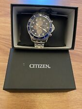 Citizen Eco-drive Men's Chronograph Blue Multi Dial 47mm Watch Ca0540-56l