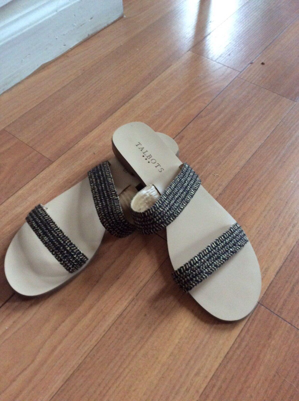 NWOB-  Talbots  Brown & Tan  Strappy Sandals  Talbots Size 8M 5a5845