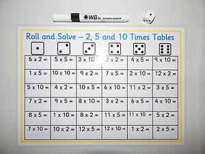 Roll and solve 2 5 10 times tables game ks1 sen for 10 times table game