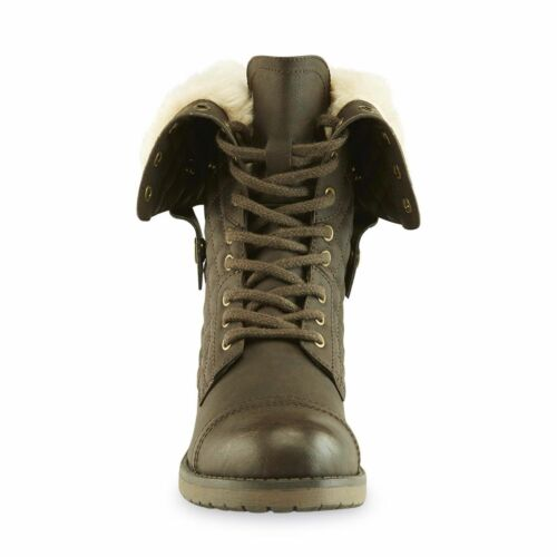 SM New York Women's Fireside Combat Boot Brown #22788 161i NEW